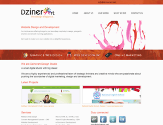 dzinerart.net screenshot