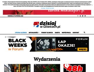 dzisiajwgliwicach.pl screenshot