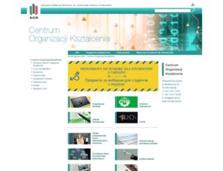 dzn.agh.edu.pl screenshot