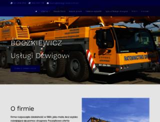 dzwigi-lodz.com.pl screenshot