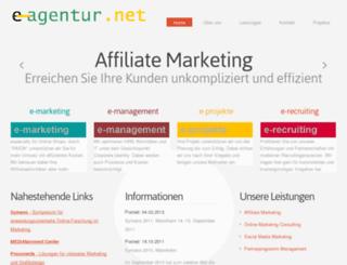 e-agentur.net screenshot