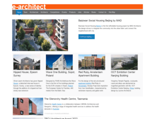 e-architect.co.uk screenshot