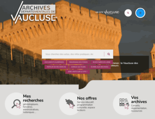 e-archives.vaucluse.fr screenshot