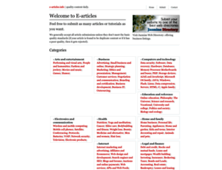 e-articles.info screenshot
