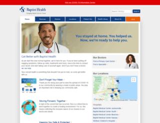 e-baptisthealth.com screenshot