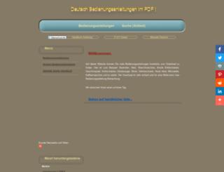 e-bedienungsanleitung.de screenshot
