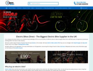 e-bikesdirect.co.uk screenshot
