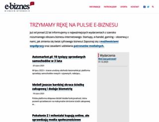 e-biznes.pl screenshot