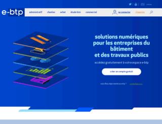 e-btp.fr screenshot