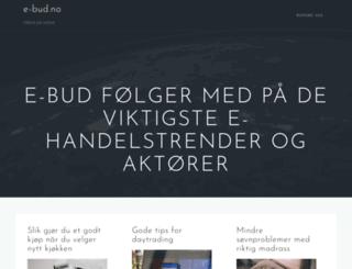 e-bud.no screenshot