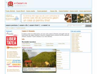 e-cazari.ro screenshot