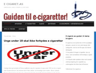 e-cigaret.as screenshot
