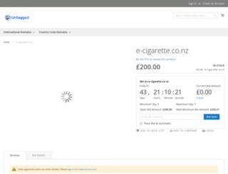 e-cigarette.co.nz screenshot