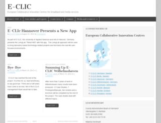 e-clic.eu screenshot