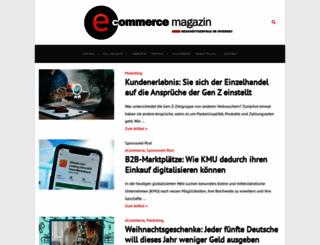 e-commerce-magazin.de screenshot