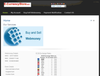 e-currencystore.net screenshot