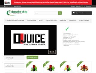e-dampfer-shop.ch screenshot