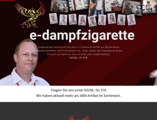 e-dampfzigarette.at screenshot
