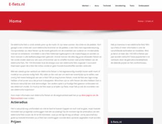 e-fiets.nl screenshot