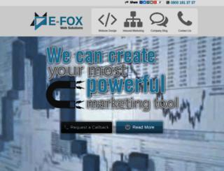 e-foxweb.co.uk screenshot