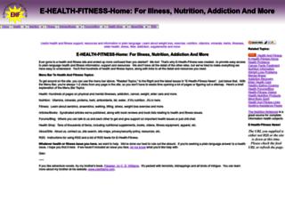 e-health-fitness.com screenshot