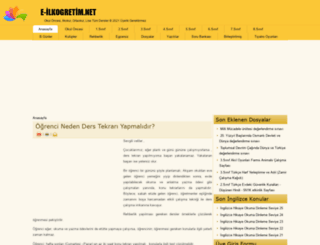 e-ilkogretim.net screenshot