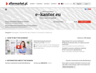e-kantor.eu screenshot