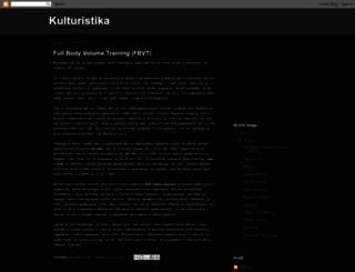 e-kulturistika.blogspot.com screenshot