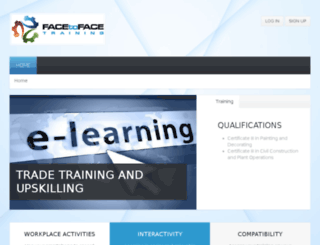 e-learn.facetoface.edu.au screenshot