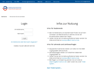 e-learning.efh-bochum.de screenshot