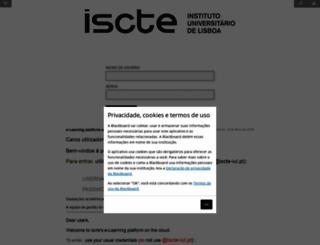 e-learning.iscte-iul.pt screenshot