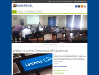 e-learning.ku.ac.ke screenshot