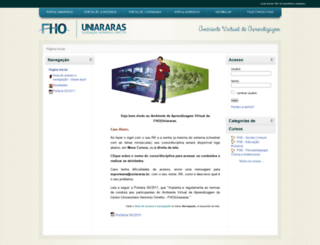 e-learning.uniararas.br screenshot