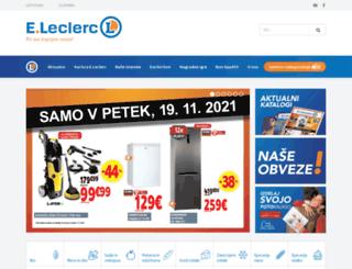 e-leclerc.si screenshot