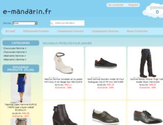 e-mandarin.fr screenshot
