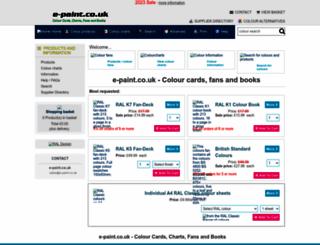e-paint.co.uk screenshot