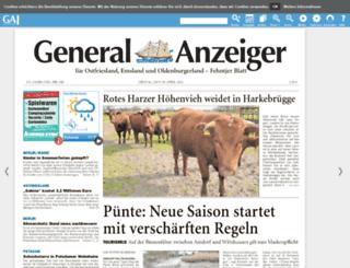 e-paper.ga-online.de screenshot
