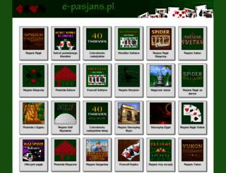 e-pasjans.pl screenshot