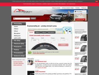 e-pneumatiky.sk screenshot