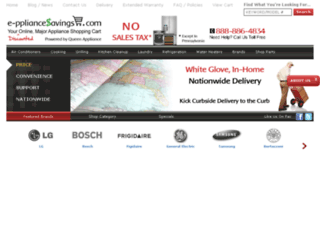 e-ppliancesavings.com screenshot