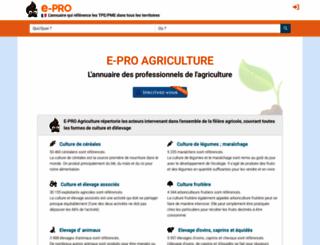 e-pro-agriculture.fr screenshot