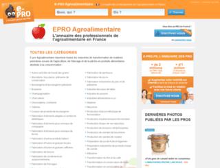 e-pro-agroalimentaire.fr screenshot