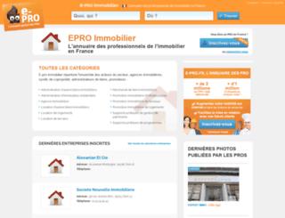 e-pro-immobilier.fr screenshot