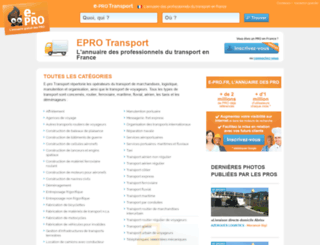 e-pro-transport.fr screenshot