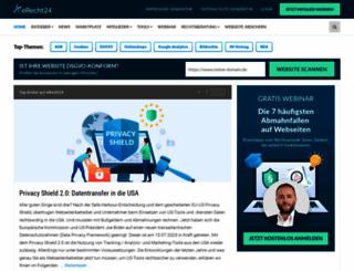 e-recht24.de screenshot