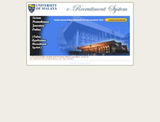 e-recruitment.um.edu.my screenshot