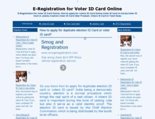 e-registration4voteridcard.blogspot.com screenshot