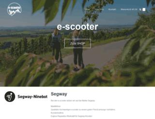 e-scooter-gmbh.de screenshot
