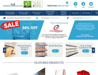e-shopfittings.co.uk screenshot