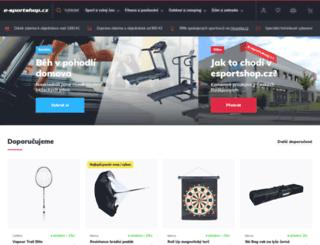 e-sportshop.cz screenshot